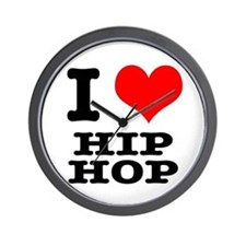 I Heart (Love) Hip Hop Wall Clock