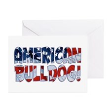 AMERICAN BULLDOG FLAG Greeting Cards (Pk of 10