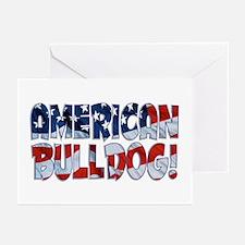AMERICAN BULLDOG FLAG Greeting Cards (Pk of 10