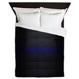 Thin blue line Queen Duvet Covers