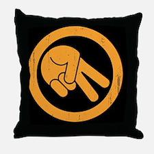 peace-biker-BUT Throw Pillow