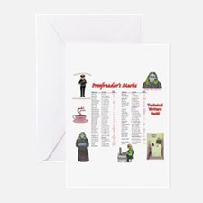 Proofreader's Marks Greeting Cards (Pk of 10)