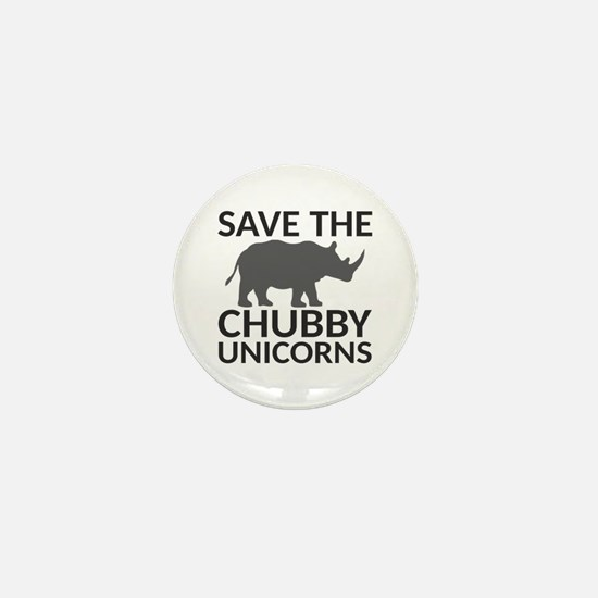 Save the Chubby Unicorns Mini Button