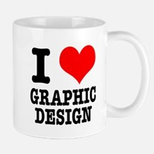 I Heart (Love) Graphic Design Mug