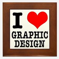 I Heart (Love) Graphic Design Framed Tile