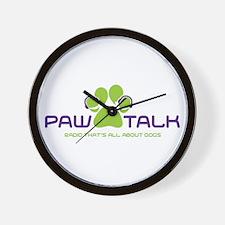 Paw Talk Logo (transparent) Wall Clock