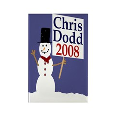 Snowman for Chris Dodd Rectangle Magnet
