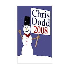 Chris Dodd 2008 Snowman Decal