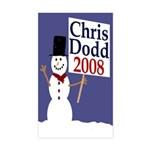 Chris Dodd 2008 Snowman Sticker