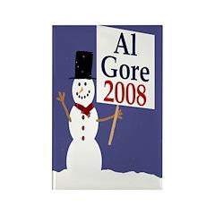 Al Gore 2008 Snowman Magnet