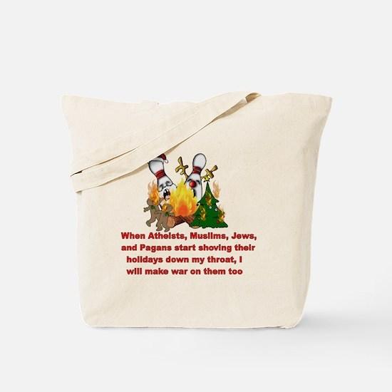 War On Christmas Statement Tote Bag