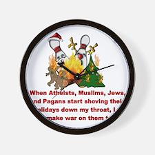 War On Christmas Statement Wall Clock