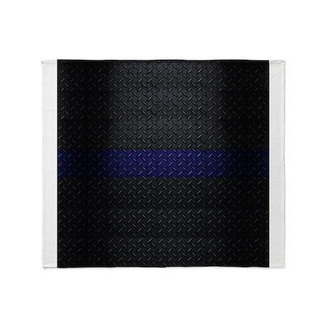 police thin blue line throw blanket