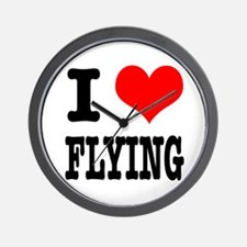 I Heart (Love) Flying Wall Clock