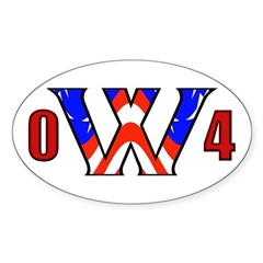 W '04 Oval Decal