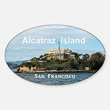 SanFrancisco_18.8x12.6_AlcatrazIsla Sticker (Oval)