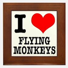 I Heart (Love) Flying Monkeys Framed Tile