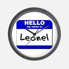 hello my name is leonel  Wall Clock