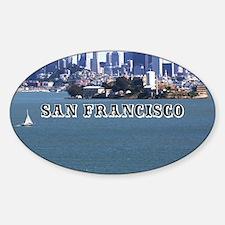SanFrancisco_6x6_v2_AlcatrazIsland Sticker (Oval)