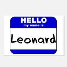 hello my name is leonard  Postcards (Package of 8)