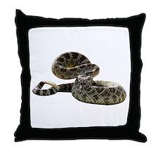 Rattlesnake Photo Throw Pillow
