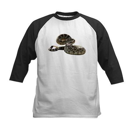 Rattlesnake Photo Kids Baseball Jersey