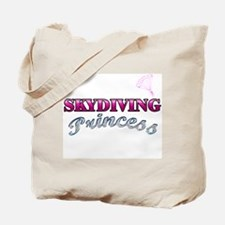 Skydiving Princess Tote Bag
