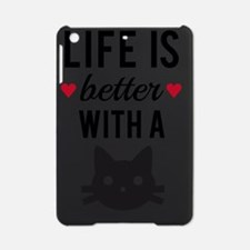 Life is better with a cat, text des iPad Mini Case