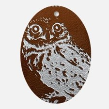 owl Oval Ornament