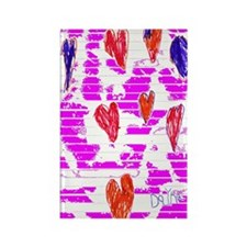 Wall of Hearts Rectangle Magnet