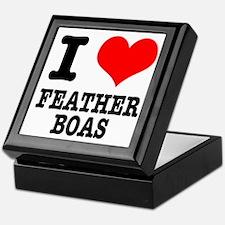 I Heart (Love) Feather Boas Keepsake Box