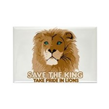 Lion Save the King Rectangle Magnet
