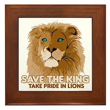 Lion Save the King Framed Tile