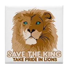 Lion Save the King Tile Coaster