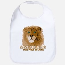 Lion Save the King Bib