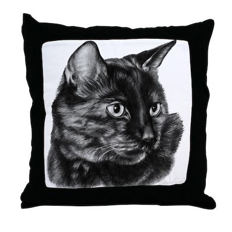 Tortoise Short-Hair Cat Throw Pillow