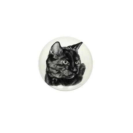 Tortoise Short-Hair Cat Mini Button