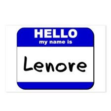 hello my name is lenore  Postcards (Package of 8)