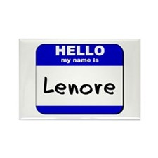 hello my name is lenore Rectangle Magnet