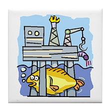 Off Shore Oil Rig Tile Coaster