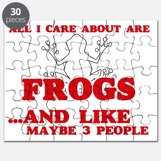 All I care about are Frogs Puzzle