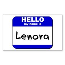 hello my name is lenora Rectangle Decal