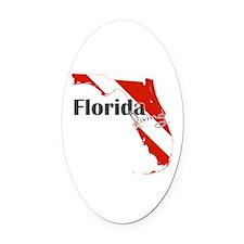Florida Diver Oval Car Magnet