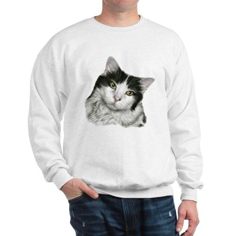 Pierre, Black & White Cat Sweatshirt