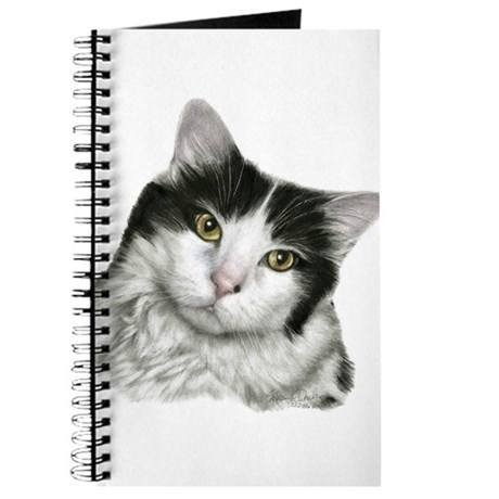 Pierre, Black & White Cat Journal