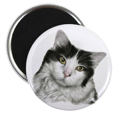 "Pierre, Black & White Cat 2.25"" Magnet (10 pack)"