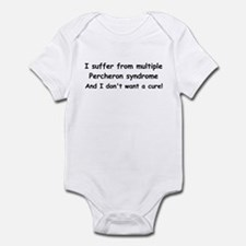 Multiple Percherons Infant Bodysuit