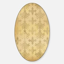 gold tone distressed damask pattern Bumper Stickers