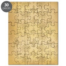 gold tone distressed damask pattern Puzzle