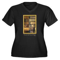 Erasmus Quote Women's Plus V-Neck Dark T-Shirt